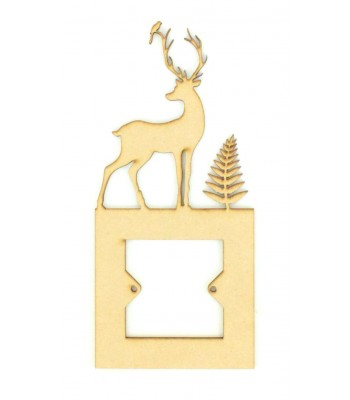 Laser Cut Stag Light Switch Surround