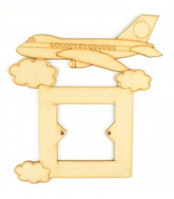 Laser Cut Aeroplane Light Switch Surround