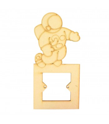 Laser Cut Astronaut Light Switch Surround