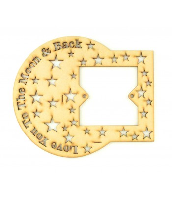 Laser Cut Love you to the moon and back Light Switch Surround - Cut out stars