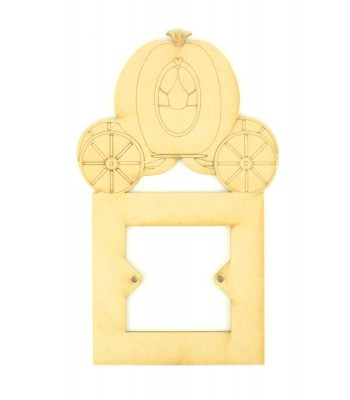 Laser Cut Princess Carriage Light Switch Surround