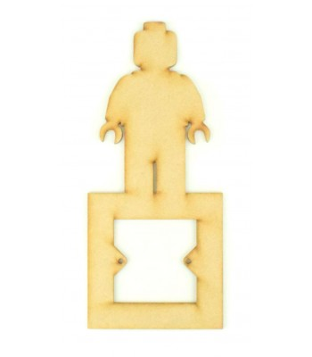 Laser Cut Lego Man Light Switch Surround
