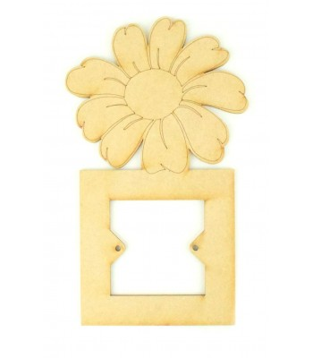 Laser Cut Large Flower Light Switch Surround