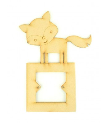 Laser Cut Cute Fox Light Switch Surround