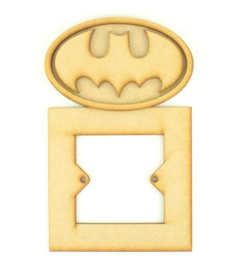 Laser Cut Batman logo 3d Superhero Light Switch Surround