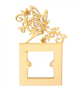 Laser Cut Butterfly with Swirls & flowers Light Switch Surround