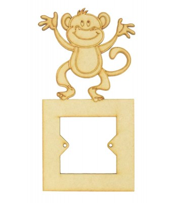 Laser Cut Cheeky Monkey Light Switch Surround