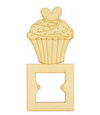 Laser Cut Cupcake Light Switch Surround