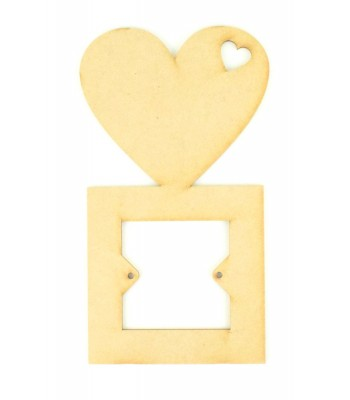 Laser Cut Plain Heart Light Switch Surround (Design 4)