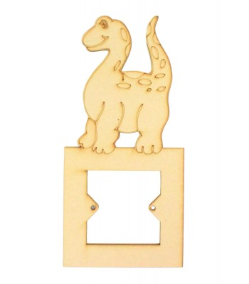 Laser Cut Etched Cute Dinosaur Light Switch Surround