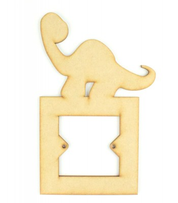 Laser Cut Apatosaurus Dinosaur Light Switch Surround