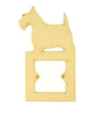 Laser Cut Scottie Dog Light Switch Surround