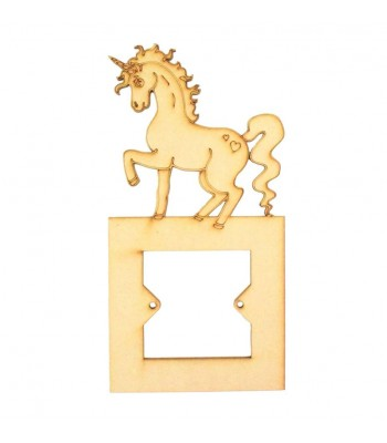 Laser Cut Detailed Magical Unicorn Light Switch Surround