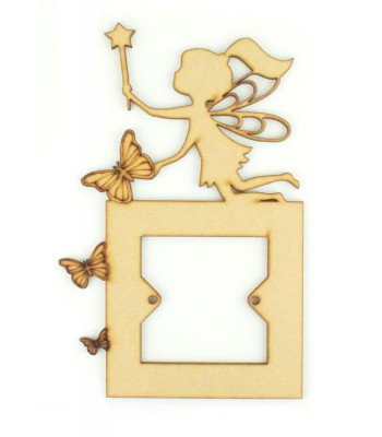 Laser Cut Fairy Light Switch Surround with Butterflies