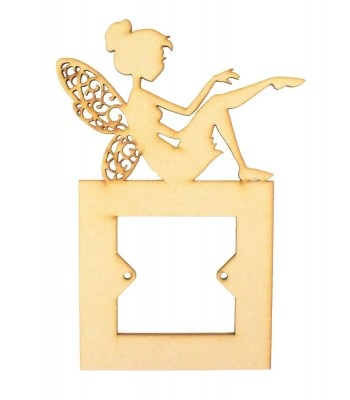 Laser Cut Fairy with Cut Out Detailed Wings Light Switch Surround