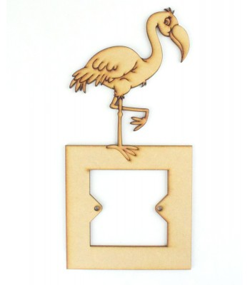Laser Cut Flamingo Light Switch Surround