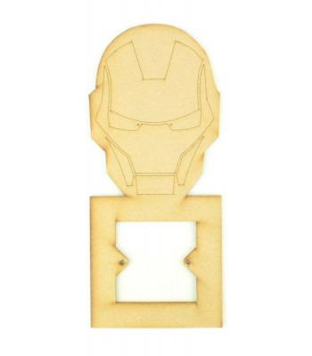 Laser Cut Ironman Super Hero Light Switch Surround