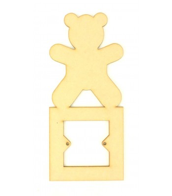 Laser Cut Teddy Light Switch Surround