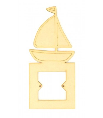 Laser Cut Sail Boat Light Switch Surround