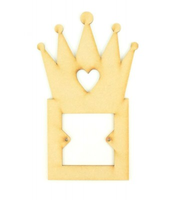Laser Cut Plain Princess Crown Switch Surround
