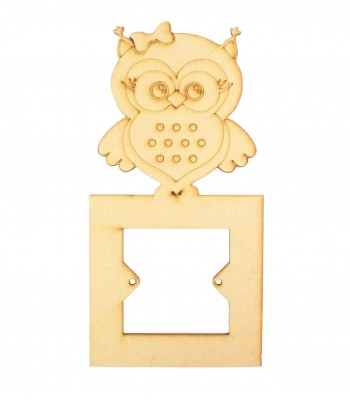 Laser Cut Girl Owl Light Switch Surround
