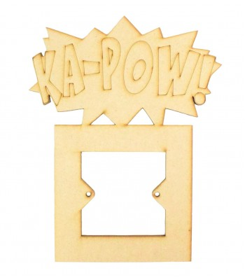 Laser Cut Ka-Pow Comic Book Superhero Explosion Word Light Switch Surround