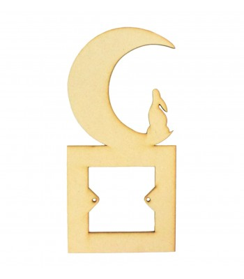 Laser Cut Moon with Hare Light Switch Surround