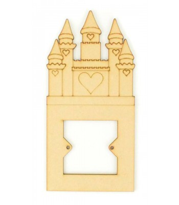 Laser Cut Princess Heart Castle Light Switch Surround