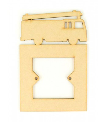 Laser Cut Fire Engine Light Switch Surround