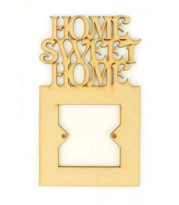 Laser Cut Home Sweet Home Light Switch Surround
