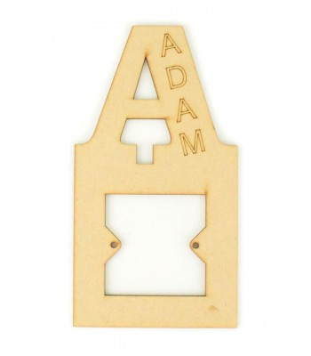 Laser Cut Personalised Letter Light Switch Surround