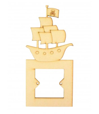 Laser Cut Pirate Ship Light Switch Surround