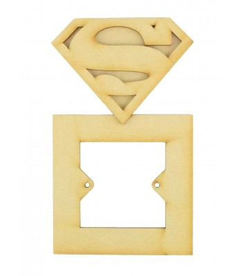 Laser Cut Superman logo 3d superhero Light Switch Surround