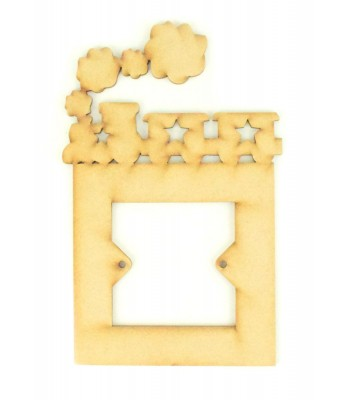 Laser Cut Train with carriages Light Switch Surround