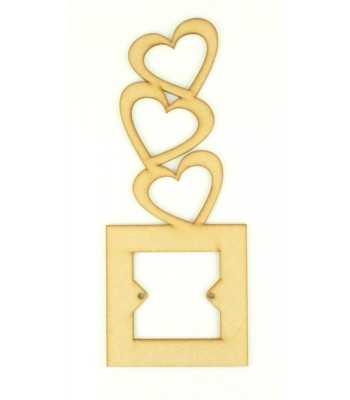 Laser Cut Tumbling Hearts Light Switch Surround (Design 2)