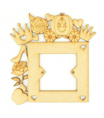 Laser Cut Princess Tumbling logo Light Switch Surround
