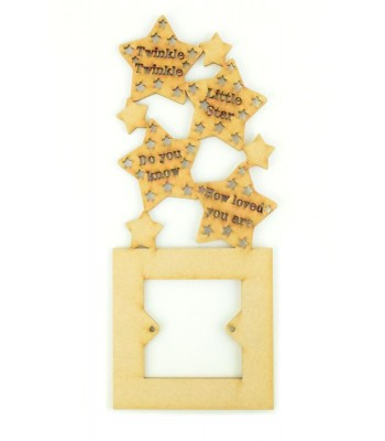 Laser Cut Twinkle twinkle little star Light Switch Surround