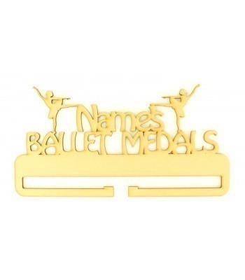 Laser Cut Personalised Large Ballet Medals Holder