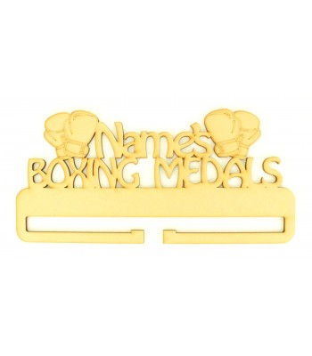 Laser Cut Personalised Large Boxing Medals Holder