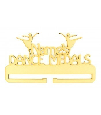 Laser Cut Personalised Large Dance Medals Holder