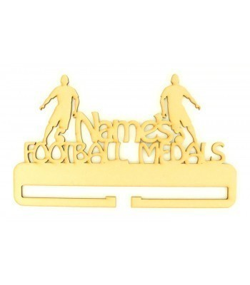 Laser Cut Personalised Large Football Medals Holder
