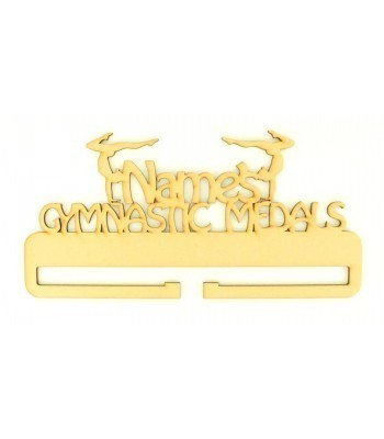 Laser Cut Personalised Large Gymnastics Medals Holder