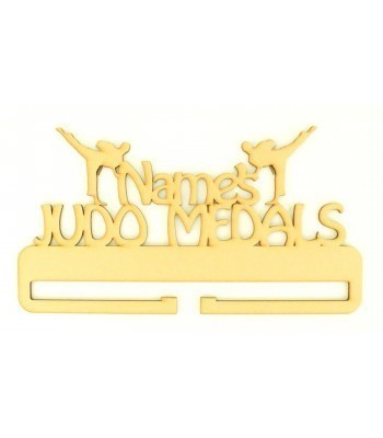 Laser Cut Personalised Large Judo Medals Holder