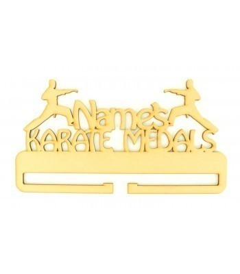 Laser Cut Personalised Large Karate Medals Holder