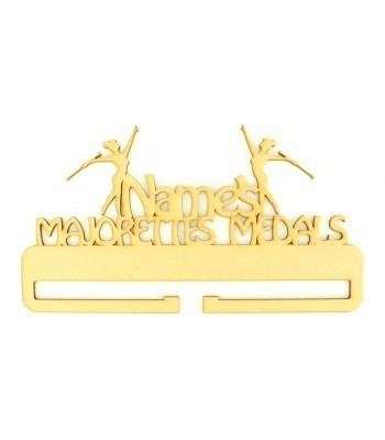 Laser Cut Personalised Large Majorettes Medals Holder