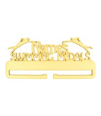 Laser Cut Personalised Large Swimming Medals Holder