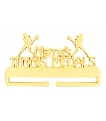 Laser Cut Personalised Large Tennis Medals Holder
