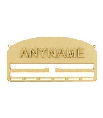Laser Cut Personalised Large Medals or Hair Accessories Holder - Hangers and Ribbon Slots with 3D Letters