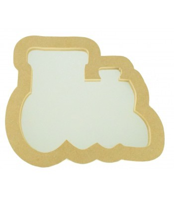 18mm Freestanding MDF Train Shape Mirror - Size Options