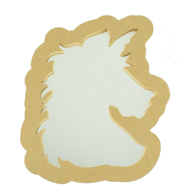 Unicorn Shapes Acrylic Mirror Children/'s Bedroom Safety Mirror 3mm